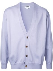 H Beauty And Youth Button Up Cardigan Pink Purple