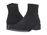 Sesto Meucci Albie Black Suede Matching Stretch Suede Women's Pull On Boots