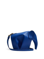 Loewe Elephant Mini Leather Cross Body Bag Blue
