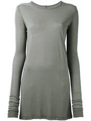 Rick Owens Long Sleeved T Shirt Grey
