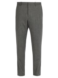 Berluti Tailored Wool Trousers Dark Grey