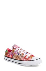 Converse Women's Chuck Taylor All Star 'Digital Floral Ox' Low Top Sneaker White Neon Pink White