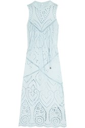 Zimmermann Epoque Broderie Anglaise Cotton Midi Dress Sky Blue