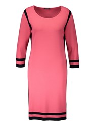 Basler Dress With Contrasting Edging Pink