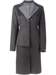 Sportmax Structured Overcoat Grey