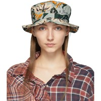 R 13 R13 Blue Floral Bucket Hat