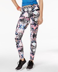 Material Girl Active Juniors' Printed Leggings Only At Macy's Spliced Floral