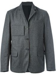 Marni Short Single Breasted Coat Grey
