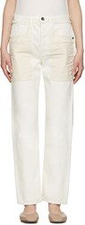 Helmut Lang Ivory Inside Out Jeans