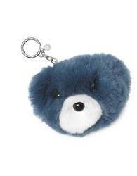 Michael Michael Kors Fur Teddy Key Fob Denim