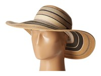 Vince Camuto Striped Floppy Natural Caps Beige