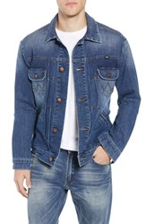 Wrangler Heritage Pleated Denim Jacket Mid Wash