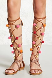 Forever 21 Faux Leather Gladiator Sandals Tan