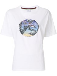 Paul Smith Ps By Contrast Patch T Shirt White