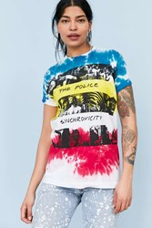 Urban Outfitters The Police Synchronicity Tie Dye Tee White