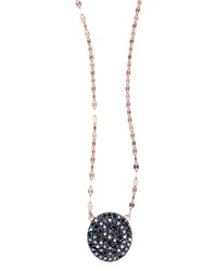 Lana Reckless Rose Black Diamond Pendant Necklace Rose Gold