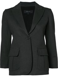 Derek Lam One Button Blazer Brown