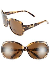Women's Corinne Mccormack 'Elizabeth' 61Mm Reading Sunglasses Tortoise