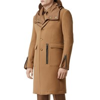 Burberry Wool Coat W Zip Details Warm Camel