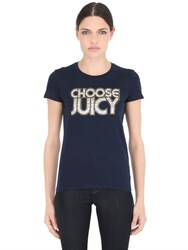 Juicy Couture Choose Juicy Print Cotton Jersey T Shirt
