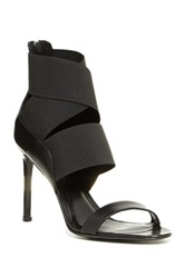 Delman Jean High Heel Sandal Black