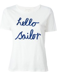 Chinti And Parker 'Hello Sailor' T Shirt White
