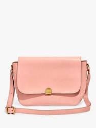 Madewell The Abroad Leather Shoulder Bag Peach