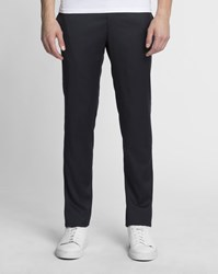 Sandro Navy Blue Micro Wool Trousers