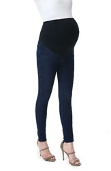 Kimi And Kai Women's Lenora Maternity Leggings Denim Blue