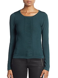 Ann Demeulemeester Beaded Sheer Cowl Top Green