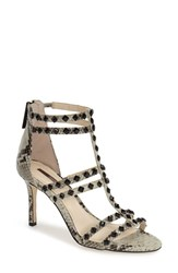 Women's Bcbgeneration 'Dariah' Studded T Strap Sandal Black White