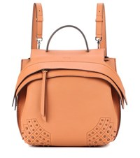 Tod's Wave Leather Backpack Pink
