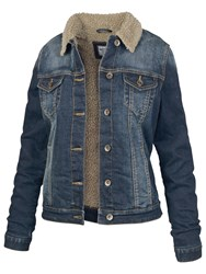 Fat Face Borg Lined Dark Denim Jacket Denim