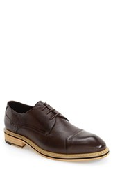 Hart Schaffner Marx Men's 'Durham' Cap Toe Derby Brown Leather