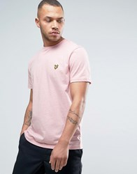 Lyle And Scott Eagle Logo T Shirt Regular Fit In Pink Marl Pink
