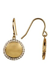 Nordstrom Rack Pave Halo Disc Cz Drop Earrings White
