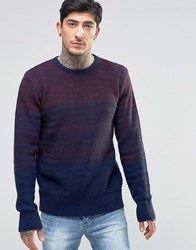 Another Influence Panel Knit Jumper Red