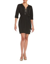 Michael Michael Kors Petite Chain Tie Shirt Dress Black