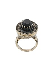 Alexander Mcqueen Crystal Embellished Ring Silver