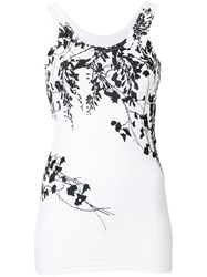 Barbara Bui Floral Fitted Vest Top White