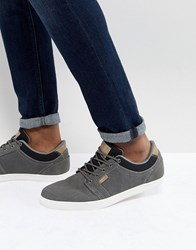 Pier One Suede Plimsolls In Grey