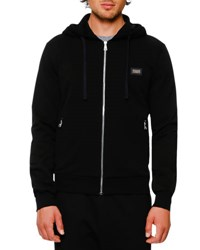 Dolce And Gabbana Zip Hoodie W Logo Plaque Black