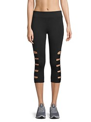Marc New York Cutout Cropped Leggings Black
