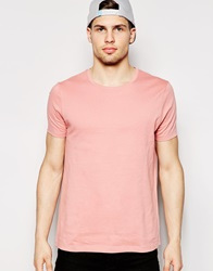 Asos T Shirt With Crew Neck Pink
