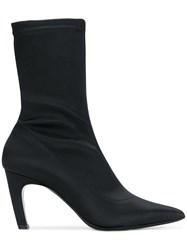 Aldo Castagna Fitted Ankle Boots Black