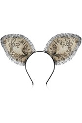 Maison Michel Heidi Lace Bunny Ear Headband Black