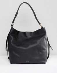 Paul Costelloe Real Leather Slouchy Shoulder Bag In Black