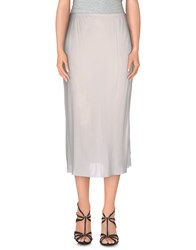 Manila Grace Skirts 3 4 Length Skirts Women White