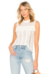 Endless Rose Sleeveless Lace Top White
