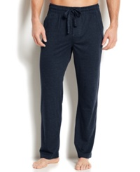 Perry Ellis Men's Sleepwear Cotton Blend Lounge Pants Navy